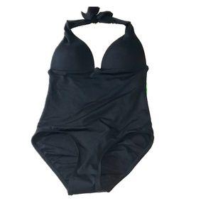 Carmen Marc Valvo black swimsuit